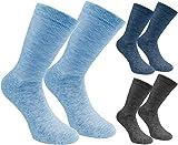 Brubaker 6 Paar Herren Socken - Lenzing Modal - Grau, Blau, Jeansblau - Größe 41-46