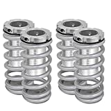 Fit Honda Civic/Accord/Acura Integra Adjustable Coilover Lowering Spring (Scale) Silver w/Silver Sleeve