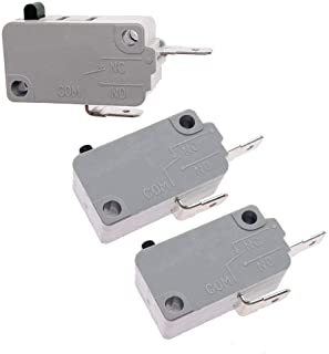 KW3A Microwave Oven Door Switch 16A 125/250V Door Interloc(Normally Open & Normally Close) (2 Normally Open and 1 Normally Close)