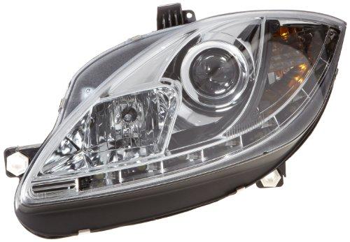 FK Automotive Phares Daylight Set avec Fex de Jour pour Seat Leon 1P année 09- Chrome