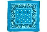shenky - Bandana - Pañuelo para motorista - 100% algodón - Estampado de cachemira - Turquesa - Pack de 3 unidades