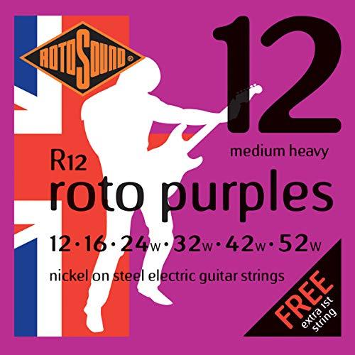 Rotosound R12 - Juego de cuerdas para guitarra eléctrica de níquel, 14...