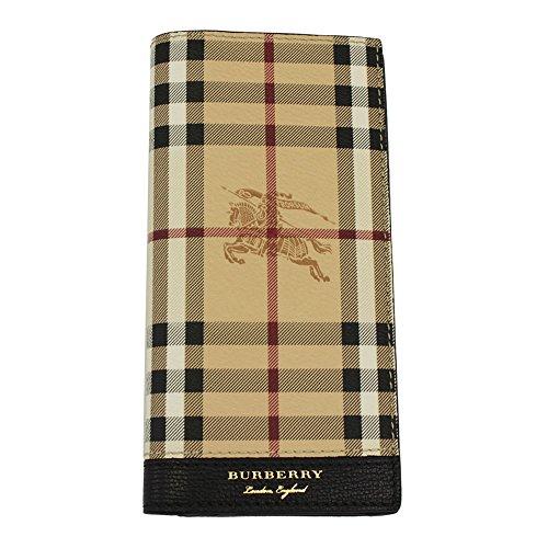 Burberry portafoglio portamonete uomo in pelle bifold Continental Cavendish nero