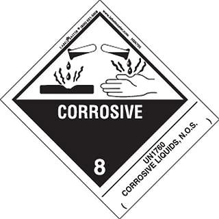 Labelmaster HSN7000 Corrosive Label, UN1760 Corrosive Liquids N.O.S, Hazmat, 4.75