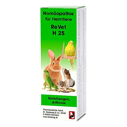 ReVet H 25 Globuli für Heimtiere -Homöopathisches Arzneimittel für Heimtiere, freiverkäuflich, 10 g