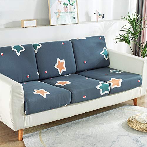 Fundas de cojín de asiento de sofá, fundas de cojín de reemplazo, fundas de cojín flexibles elásticas para cojines individuales (3 plazas, estrellas verdes)