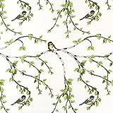 Fabulous Fabrics Halbpanama weiß, Pflanze, 150cm breit