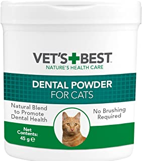 Vet's Best Natural Dental Powder for Cats |Clean Teeth and Fresh Breath - 90 g