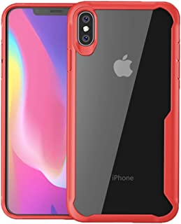 Compatible 2018 New iPhone XR, iPhone 6.1 inch Case, DEMEDO Warrior Series, Acrylic Transparent Clear Cover Case for Apple iPhone XR, Red