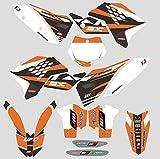 JFG Racing Aduana Personalizada Motocicleta Pegatinas Adhesivas Pegatinas Gráficos Kit para 2007-2010 K.T.M 125 144 150 250 450 505 SX SXF SX-F