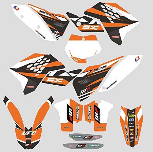 JFG Racing Benutzerdefinierte Motorrad Komplettkleber Aufkleber Aufkleber Grafik Kit Für 2007-2010 125 144 150 250 450 505 SX SXF SX-F