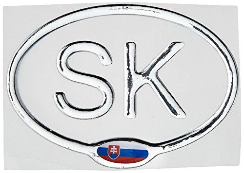 AG Design A-C-9467 3D sticker slot met vlag SK 12,5x9 cm - zilver