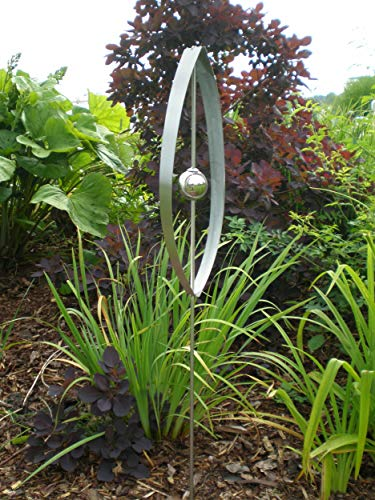 Manufaktur-Lichtbogen Edelstahl Gartenstecker Ellipse Gartendekoration aus Metall Gartendeko
