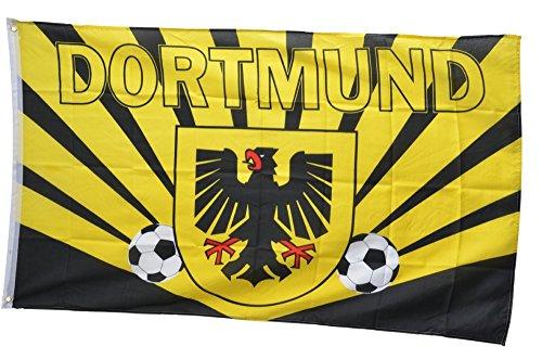 Flaggenfritze® Flagge Fanflagge Dortmund Strahlen - 90 x 150 cm