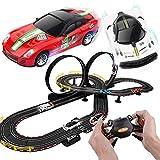 BJINDH 7.4M Racing Track Set Toys, Juguetes de Ocio Educativo for niños y niñas, Carreras de Pista interactiva for Padres e Hijos for Carreras de Dos Personas, Regalos de cumpleaños de Vacaciones