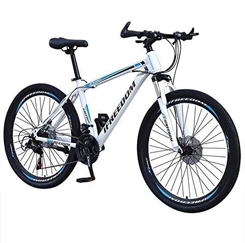 SYCY Bicicleta de montaña Completa de Acero al Carbono Junior de 26 Pulgadas y 21 velocidades Bicicletas de Carretera de suspensión Completa con Frenos de Disco Bicicleta MTB