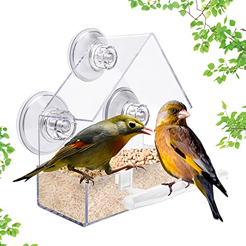Super Absorbent Suction Cups Window Bird Feeder Clear Acrylic Bird Feeders...