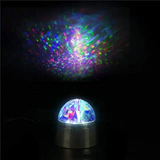 Kicko 3.5 Inch LED Kaleidoscope Lamp - Rotating Magical Desk Light - Perfect for Home Decor, Bedroom, Evening Show, Props, Spotlight, Rave, Birthdays, Party Favor, and