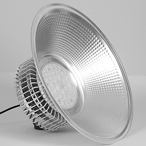 ZJING Lámpara Industrial LED High Bay Light, 13000LM 6000-6500K SMD 2835 Iluminación LED de almacén UFO con ángulo de Haz Blanco frío de 120 ° para Luces de Techo, iluminación de Taller,150w
