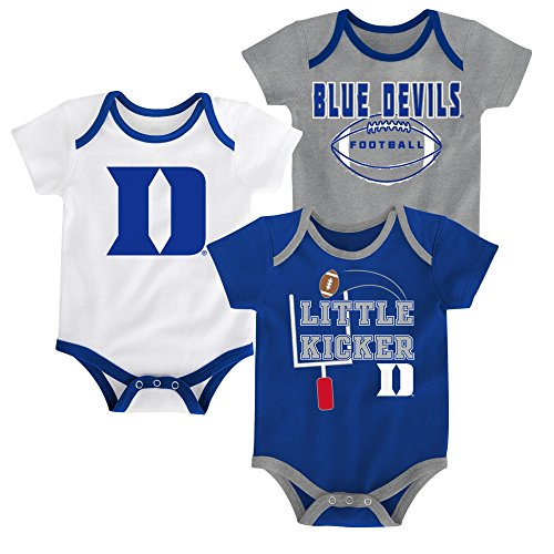Outerstuff Duke Blue Devils 3 Points Baby/Infant 3 Piece Creeper Set 24 Months