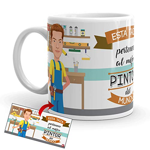 Kembilove Taza de Café del Mejor Pintor del Mundo – Taza de Desayuno para la Oficina – Taza de Café y Té para Profesionales – Taza de Cerámica Impresa – Tazas para Pintores