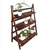 YUNMO Blumen-Rahmen-festes Holz-faltender Balkon-Wohnzimmer-hölzernes Blumen-Regal getretener mehrschichtiger Gestell-Topf-Stand (größe : W80cm)