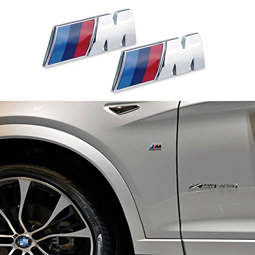APPSON Compatible de emblema adhesivo insignia para coche compatible con M performance (2 uds)