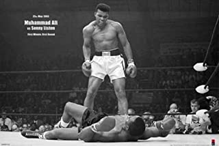 Picture Peddler Laminated Muhammad Ali vs Liston First Minute Round Knockout Fight Boxing Photo Sports Poster 24x36