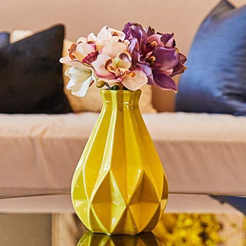 Kunstbloem Creative keramische vazen, zijde bloemen in vaas, Bouquet Pot Bloempot Woonkamer van het Huis Wedding Party Garden Decor