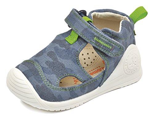 Biomecanics 172156, Chaussures Premiers Pas garçon - différents Coloris - Coloris variés (Bleu Marine/imprimé Camouflage), 20 EU