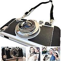 パリの新しいエミリー電話ケースHuaweiP30 / Pro Samsung N0TE 20と互換性のあるビンテージカメラ、アンチロストストラップビンテージカメラ3D電話ケース (for P30)