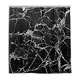 CPYang Duschvorhänge Marmor-Muster Wasserdicht Schimmelresistent Badevorhang Badezimmer Home Decor 168 x 182 cm mit 12 Haken