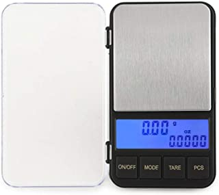 Hbwz Digital Milligram Pocket Scale, Digital Weight Scale for Jewelry, Diamond, Powder, Grain, Medication with Weighing Pans,500g/0.01g