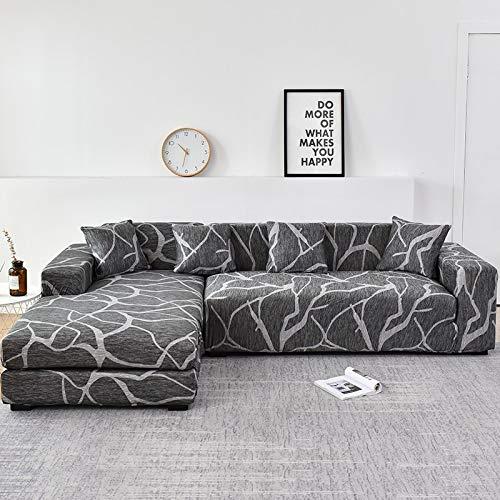 Fundas de sofá Chaise Longue para Sala de Estar Funda elástica para sofá Estiramiento en Forma de L Funda para sofá de Esquina A25 4 plazas