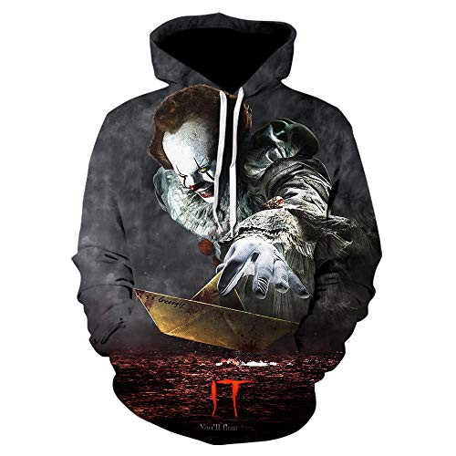 ZZTXF Stephen Kings It Clown Unisex Hoodies Mode Streetwear Casual Men 3D Sweatshirt Harajuku Hoody Hip Hop Sudaderas Hombre Jacke-We-1018_M