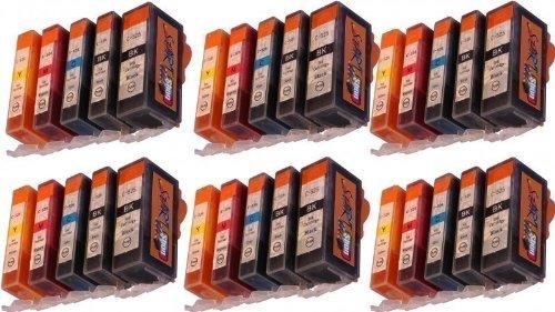 Start - Cartuchos chip XL compatibles para PGI-525 / CLI-526 para Canon Pixma MX885, MX895, iP4850, iP4950, iX6550, MG5150, MG5250, MG5340, MG5350, MG6150, MG6250, MG8150, MG8240, MG8250, MX715 y MX884 (30 unidades)