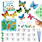 Amagoing 37Pcs Butterfly Painting Kit, Kids Crafts and Arts Supplies Painting Set Party Favors for Boys Girls Creativity DIY Gift