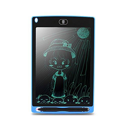 Preisvergleich Produktbild Graffiti-Tablet-Schreibplatte Ultra-Thin Highlight 8.5 Zoll Portable & Magnetische eWriter,  Digital,  Handschrift Papier Doodle Board für Schule,  Kühlschrank oder Büro Blau