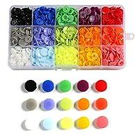 T5スナップスナップスナッププラスチックボタン服の縫製、ビブ、レインコートの作成 - Diy手作りの道具(花オーガナイザー) (Color : 150Pcs)