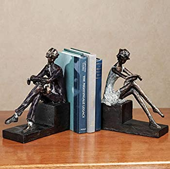 Touch of Class Thinking Man & Woman Bookends Pair Abstract Bronze Contemplation Couple
