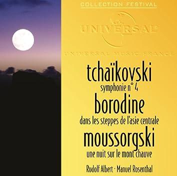 Tchaikovski: Symphonie 4-Borodine: Dans les steppes de l'Asie centrale-Moussorgski: Une nuit sur le mont chauve