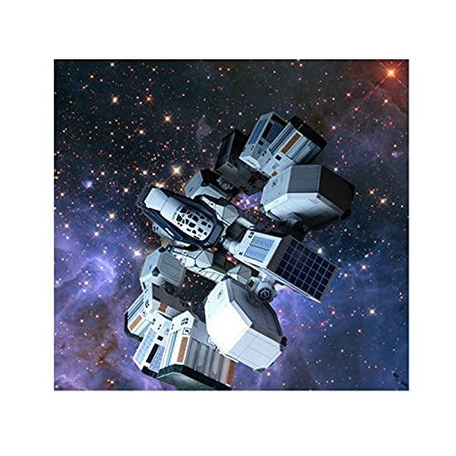 AMZYY Interstellar Raumschiff Endurance Papiermodell, Raumschiff Handgefertigt DIY