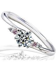 [ミワホウセキ] miwahouseki 天然 ピンクダイヤ 付き プロポーズ 婚約指輪 プラチナ 最高の輝きを放つ ダイヤモンド 0.2ct 鑑定書付 5号 [M297PD]