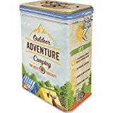 Nostalgic-Art Caja de café retro, Outdoor Adventure – Idea de regalo para aficionados al camping,...
