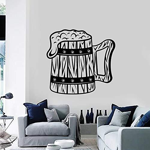 Taza de pared calcomanía cerveza espuma Bar Pub casa de cerveza arte interior pegatina Mural vinilo ventana decoración hombre cueva cocina calcomanía