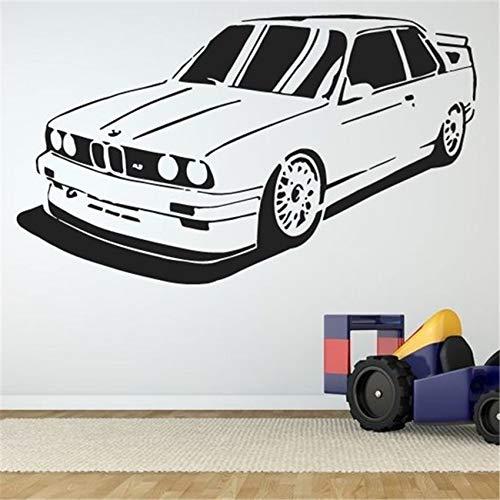 Nueva calcomanía de vinilo para pared pegatina Vintage Retro Speed Raing Car Training Racing Club dormitorio niños habitación decoración del hogar arte mural cartel