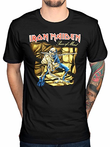 Official Iron Maiden Piece 2 Of Mind Graphic T-Shirt Rock Metal Band Merch