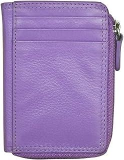 ili New York 7411 Leather Credit Card Holder (Amethyst)