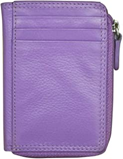 ili New York 7411 Leather Credit Card Holder (Amethyst)