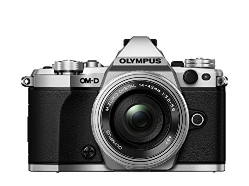 Olympus OM-D E-M5 Mark II Kit, Micro Four Thirds Systemkamera und M.Zuiko Digital ED 14-42 mm F3.5-5.6 EZ Zoomobjektiv, silber